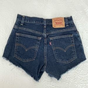Vintage Levi's 550 High Waisted Stretch Mom Shorts